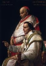 tablou jacques louis david - portrait of pope pius vii and cardinal caprara
