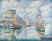 tablou paul signac - barfleur, 1913