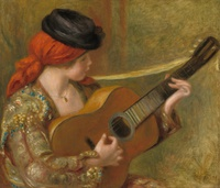 Tablou canvas renoir - young spanish woman with a guitar, 1898