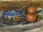 tablou renoir - cup and two fruit