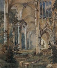 tablou carl blechen - gothic church ruin
