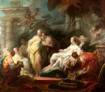 tablou fragonard, jean honore - psyche showing her sisters her gifts from cupid