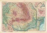 tablou harta veche romania, 1968