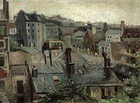 tablou van gogh - the roofs of paris, 1886