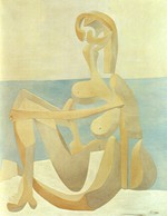 tablou picasso- seated bather [1930]