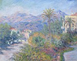 tablou claude monet - strada romana in bordighera, 1884