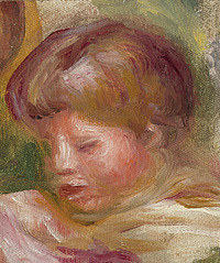 tablou pierre auguste renoir - head of the woman