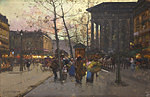 Tablou canvas eugene galien laloue - la madeleine (3), paris