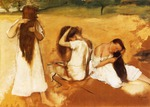 tablou 1876  edgar degas - femmes se peignant