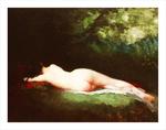 tablou nicolae grigorescu - nimfa dormind