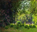 Tablou canvas claude monet   parc monceau 2, 1878