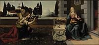 tablou leonardo da vinci - annunciazione, 1472
