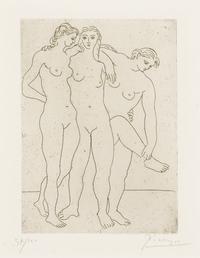 tablou picasso - les trois baigneuses iii