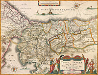 tablou harta antica palestina, 1629