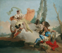 Tablou canvas giovanni battista tiepolo - rinaldo enchanted by armida