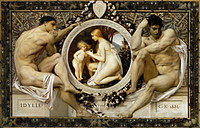 Tablou canvas Gustav Klimt - idiliya (1883)