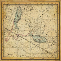 tablou star constellation, astrology map, 1820 (19)