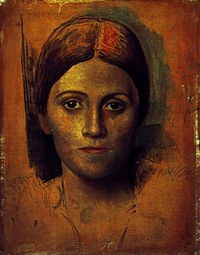 Tablou canvas picasso - portrait de olga kokhlova, 1917