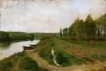 tablou jean louis ernest meissonier - the seine at poissy