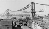 Tablou canvas manhattan bridge, new york(1909)