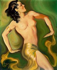 tablou nud, ilustratie (296)