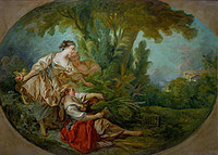 tablou francois boucher - bird trap