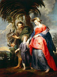 tablou rubens - the return of the holy family from egypt