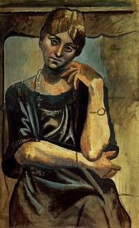tablou picasso - olga kokhlova, 1917