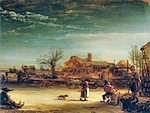 tablou rembrandt - landscape (1646)