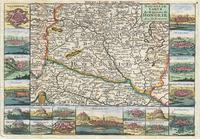 tablou harta antica ungaria,1747