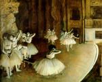 tablou degas - ballet rehearsal