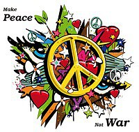 Tablou canvas make peace not war (1)