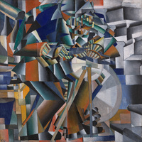 Tablou canvas kazimir malevich - the knife grinder, 1913