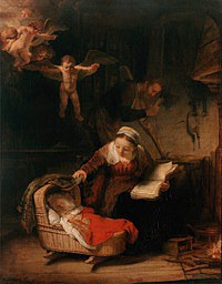 tablou rembrandt - the holy family