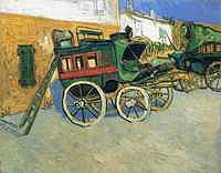 Tablou canvas van gogh - the tarascon diligence, 1888