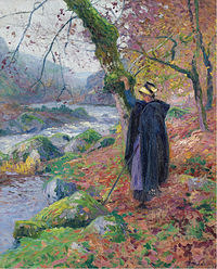 tablou paul madeline - peasant girl at the riverbank