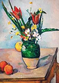 tablou paul cezanne - tulips in a vase, 1890