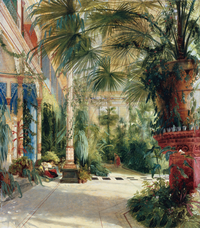 tablou carl blechen - inside of the palm house