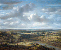 tablou philips koninck - river landscape (1676)