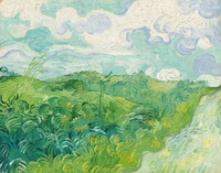 tablou vincent van gogh - green wheat fields, auvers, 1890