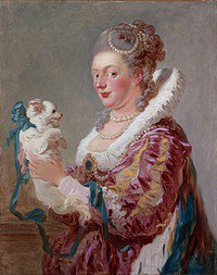 tablou jean honore fragonard - lady with the dog (1769)