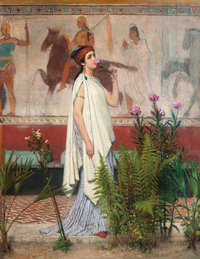 Tablou canvas lawrence alma tadema - a greek woman