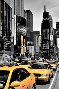 Tablou canvas new york, taxi, bicolor (15)