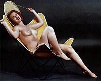 Tablou canvas sexy girl, vintage (10)