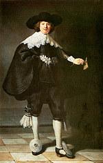 Tablou canvas rembrandt - portret sulmansa martin (1634)