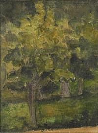tablou paul cezanne - trees