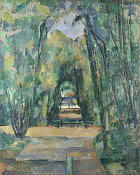 tablou paul cézanne - avenue at chantilly