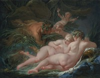 tablou francois boucher - pan and syrinx (2), 1759