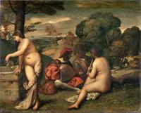 tablou titian - the pastoral concert (1509)