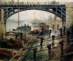 tablou monet, claude - unloading charcoal. argenteuil